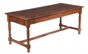 A French walnut refectory table