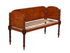 A late Regency mahogany campaign sofa