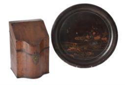 A George III mahogany knife box
