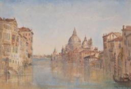 S. G. Tovey (British 19th century) , Venetian Canal scene with Santa Maria della Salute