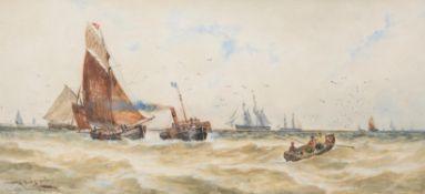 Thomas Bush Hardy (British 1842-1897), Coming into Yarmouth Harbour