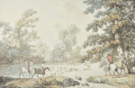 Thomas Rowlandson (British 1766-1827), A Stag Hunt