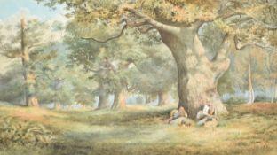 George Vicat Cole (British 1833-1893), The Picnic, Savernake Forest