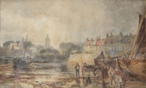 Samuel Bough (British 1822-1878) , View of Anstruther