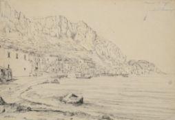 Attributed to Antonio Senape (Italian 1788-1850) , Marina at Capri