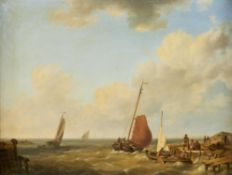 Attributed to Johannes Hermanus Koekkoek (Dutch 1778-1851), Shipping off a coast