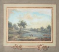 Follower of Jean-Louis Demarne , River landscapes