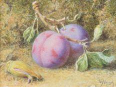 William Hough (British 1819-1897), Still life with fruit