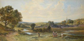 John Faulkner (Irish 1835-1894) , Haymaking, Rickmansworth