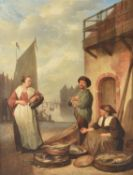 Circle of Abraham van Stry (Dutch 1753-1826), The fish sellers