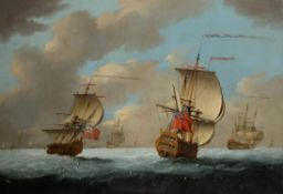 Circle of Thomas Mellish (British 18th century) , A Squadron of the Red at sea