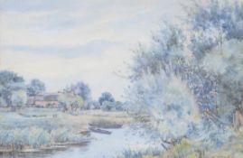 Robert Winchester Fraser (British 1848-1906) , Sussex farmstead