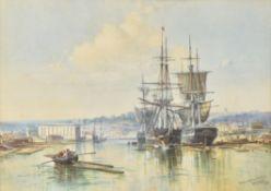 George Wolfe (British 1834-1890) , Bristol Floating Harbour