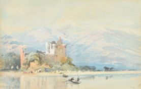 Thomas Miles Richardson the Younger (British 1813-1890), Kilchurn Castle, Loch Awe, West Scotland