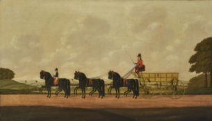 John Cordrey (British c. 1765-1825) , Coach and horses