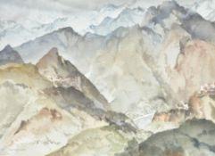 Sir William Russell Flint (Scottish 1880–1969), Mountain Landscape (Basses Alpes)