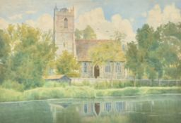William Fraser Garden (British1856-1921), Hartford Church, near Huntingdon