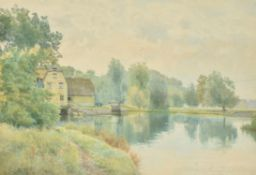William Fraser Garden (British 1856-1921), Houghton Mill on the River Ouse, Cambridgeshire