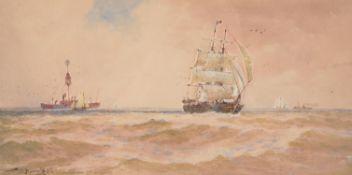 Thomas Bush Hardy (British 1842-1897), The South Sand Head of Godwins