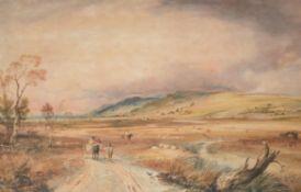 Copley Fielding (British 1787–1855), Figures in a landscape