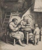Adriaen Jansz Van Ostade (Dutch 1610 - 1685), Das Tischgebet (Bartsch 34)
