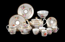 An English porcelain 'Bute' shape part tea service