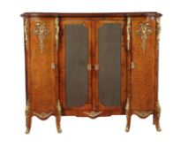 A French walnut and gilt bronze mounted side cabinet