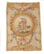 A pair of Louis XVI pastoral tapestry panels