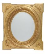 A French carved wall mirror