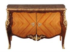 Y A rosewood, kingwood, and gilt metal mounted commode in Louis XV style stamped 'Daide F'