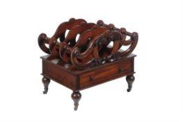 A Victorian mahogany Canterbury