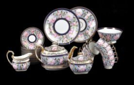 A John Rose Coalport 'London' shape part tea service