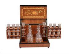 A French mahogany and inlaid liquor cabinet