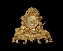A late 19th century French ormolu clock Graux Marly Paris
