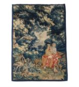 An Aubusson verdure tapestry with Orpheus enchanting the animals