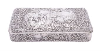 An Edwardian silver rectangular trinket box by Henry Matthews