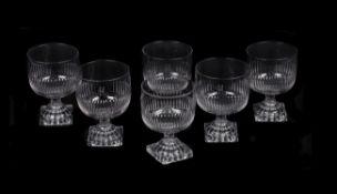 A set of six rummers