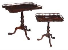 A mahogany tripod table in George III style