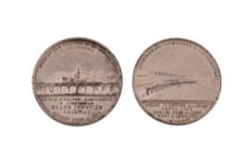 Grand Junction Railway opened 1837, white metal medal by T Halliday