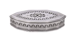 A George III silver pierced box