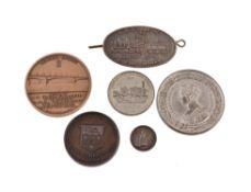 Railway medals (5), Waterloo Bridge opening 1817, silver medalet