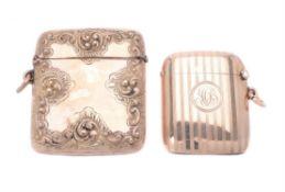 A Victorian 9 carat gold vesta case by Henry Matthews
