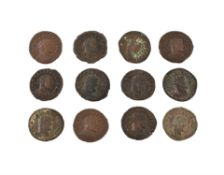 Rome, Allectus (AD 293-296), bronze Quinarii (12)