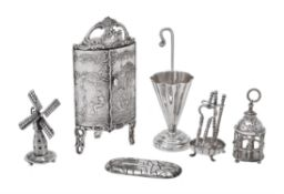 A collection of Dutch silver toys