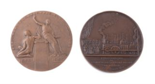 Portugal, Opening of the Eastern Railway in Lisbon 1856, bronze medal