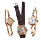 Unsigned, Lady's 18 carat gold bracelet watch
