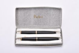 Parker, Duofold, a black fountain pen