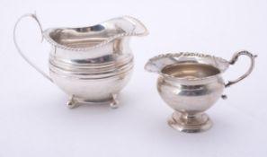 A George IV silver cream jug