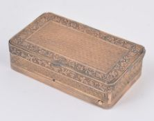 A continental silver gilt coloured musical box