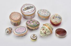 A collection of Halcyon Days enamel boxes